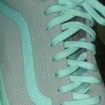 kasut hijau kelabu putih merah jambu