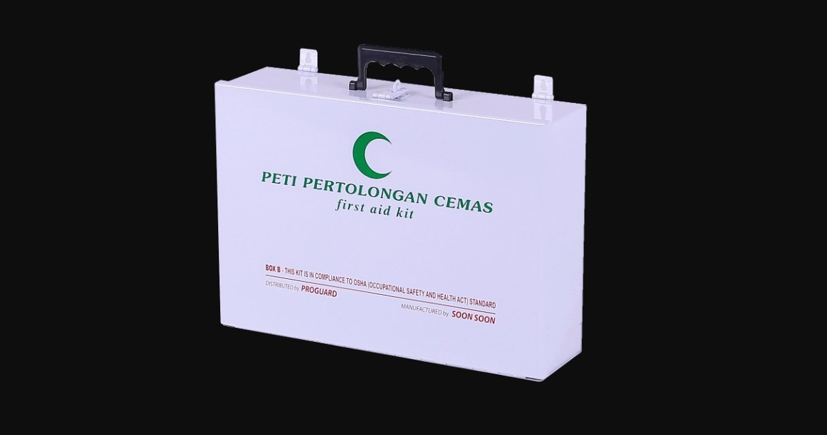 first aid kit peti pertolongan cemas